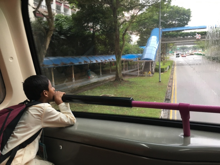 Ishav Das marvels at the world outside a bus window